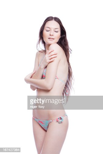 smile woman in bathing suit : Stock Photo