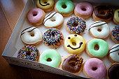 Smiley doughnuts