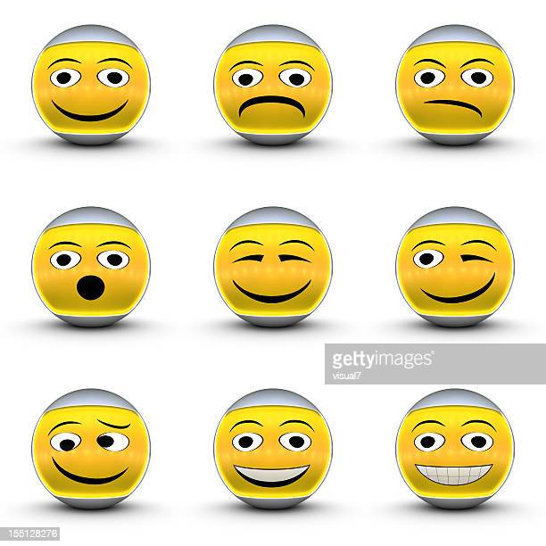 smiley emoticon set,
