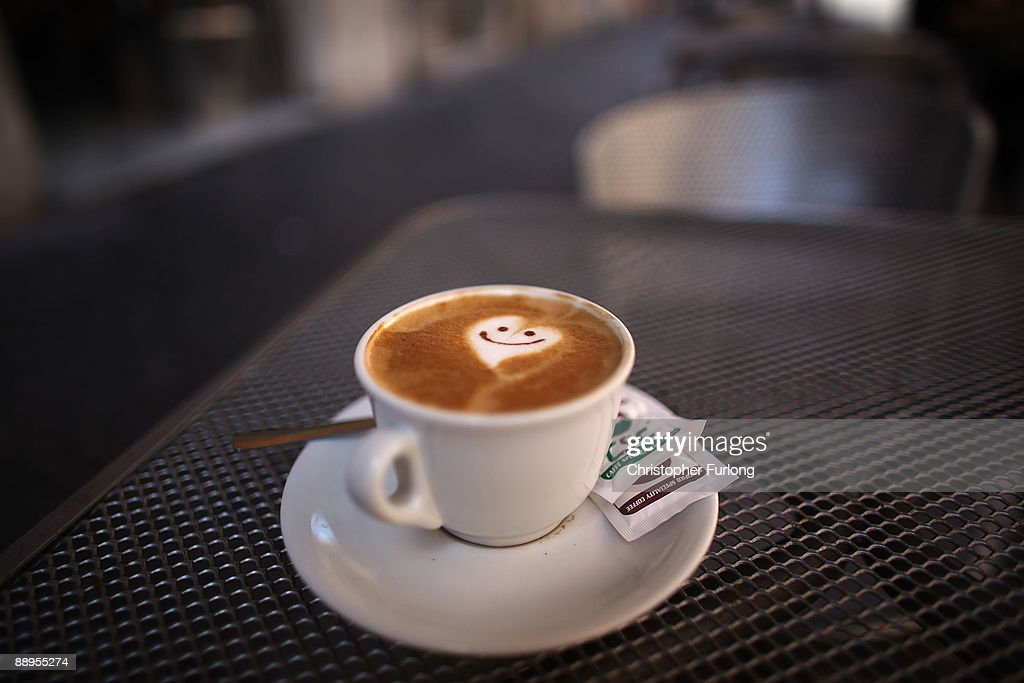 A smiley face and heart adorns the froth of a cappucino reflecting the romance of Rome on July 9, 2009 in Rome, Italy. With nearly 3000 years of history Rome continues to live up to its motto of The Eternal City for being one of the founding cities of Western Civilisation.