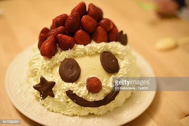 Smiley Face Decorated On Cake