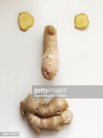 Smiley Face Made Of Ginger Root