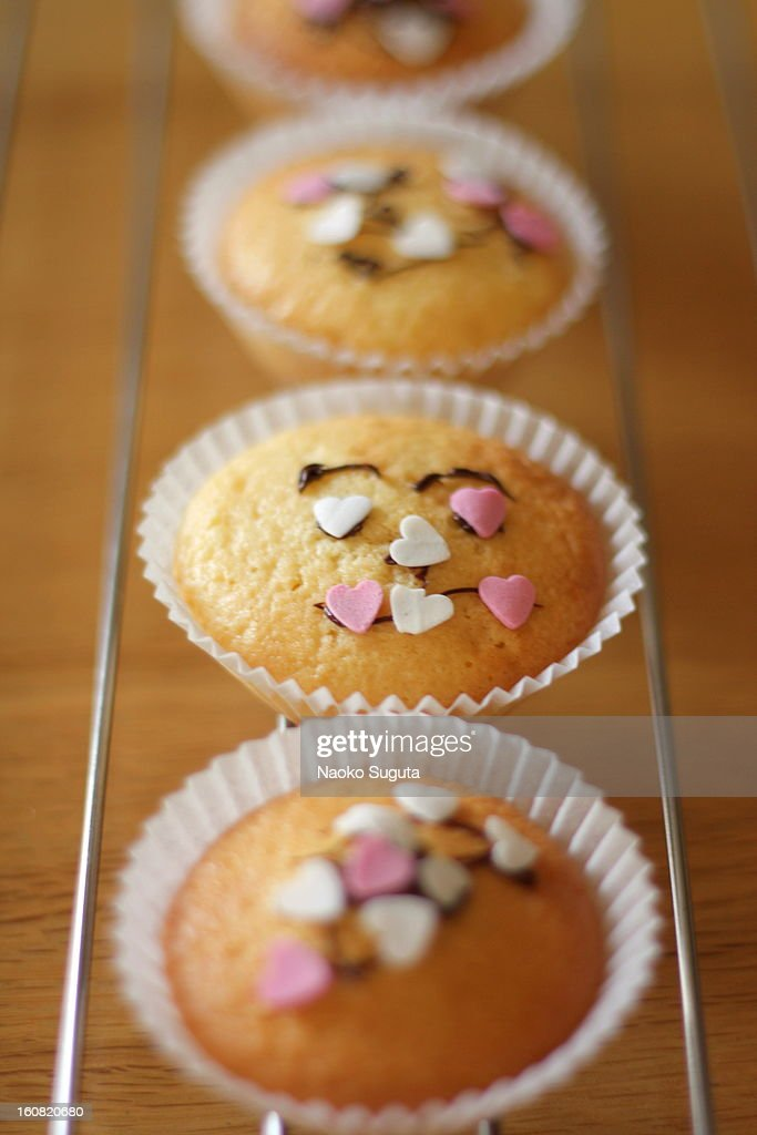 smiley muffin : Stock Photo