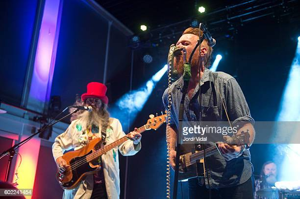 Smilin Bob Lewis and Ben Miller of Ben Miller Band perform on stage during Take Root Festival 2016 at Oosterpoort on September 10 2016 in Groningen...