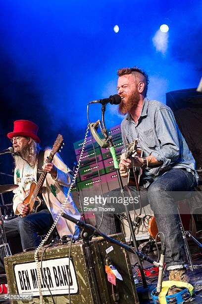 Smilin Bob Lewis and Ben Miller of The Ben Miller Band perform at O2 Academy Birmingham on June 23 2016 in Birmingham England