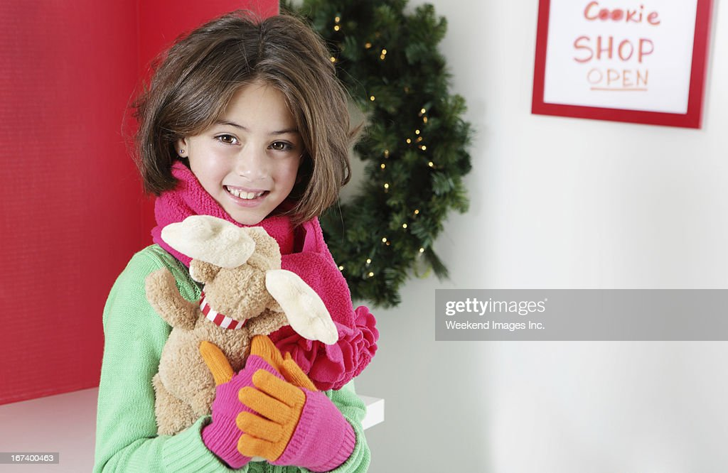 Smiling 8 years old girl : Stock Photo