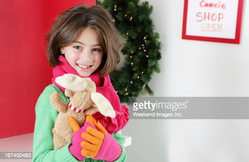Smiling 8 years old girl : Stockfoto