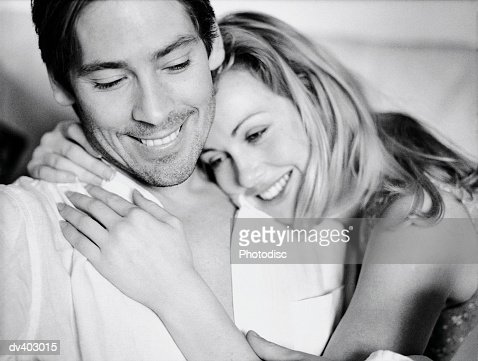 Smiling affectionate couple : Stock Photo