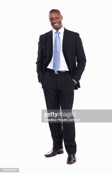 Smiling African American business man