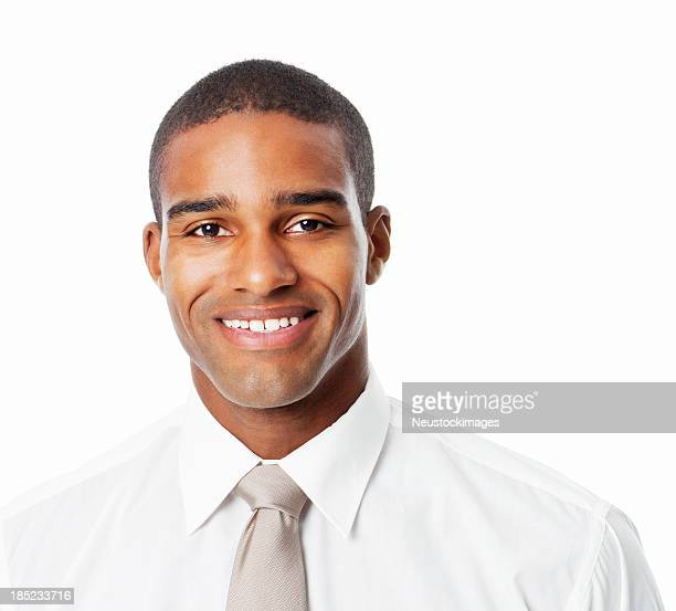 Smiling African American Businessman - Isolated
