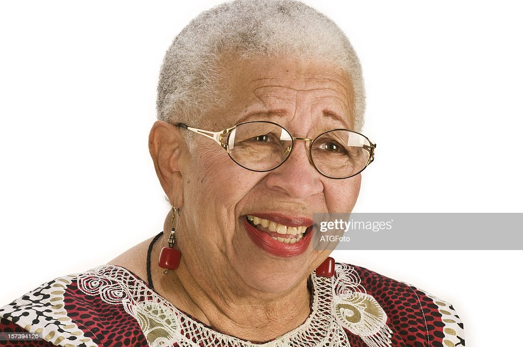 Smiling African-American Senior Woman : Stock Photo