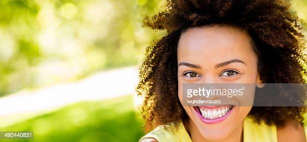 Smiling afro girl