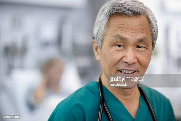 Smiling Asian Doctor