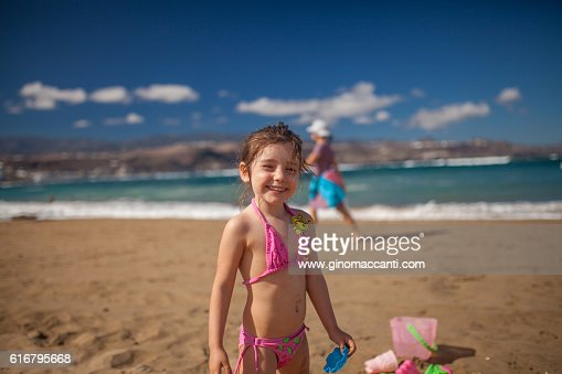 smiling at the beach : Stock Photo
