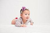 Six month old Korean baby girl shot in my studio