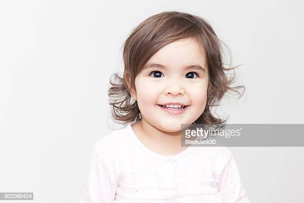 Sorridente ragazza bambino
