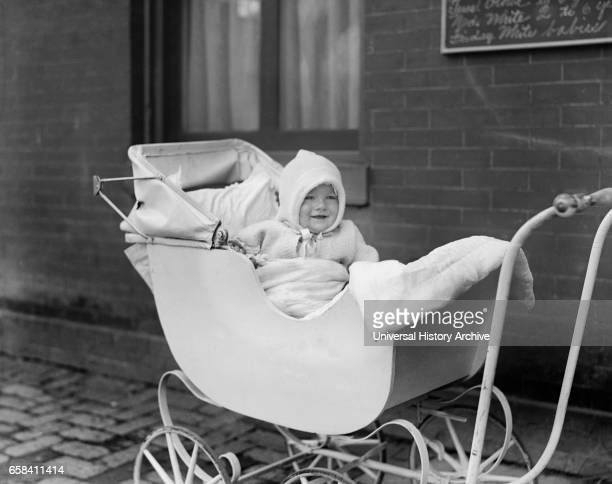 Smiling Baby in Carriage Washington DC USA National Photo Company 1921