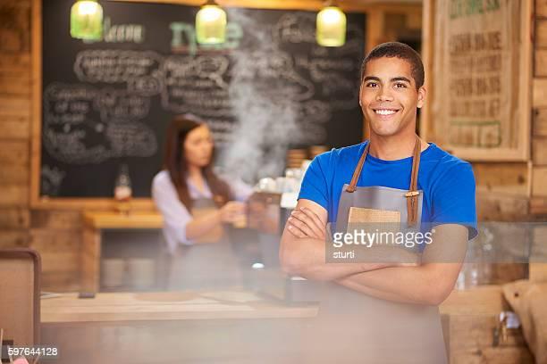 Smiling barista