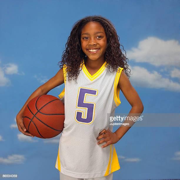 Smiling basketball player