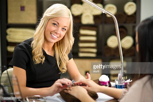 smiling beautician