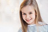 Cute little girl close-up portrait