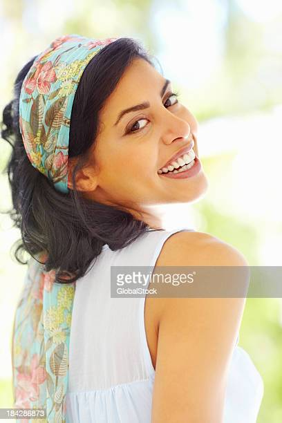 Smiling, beautiful woman