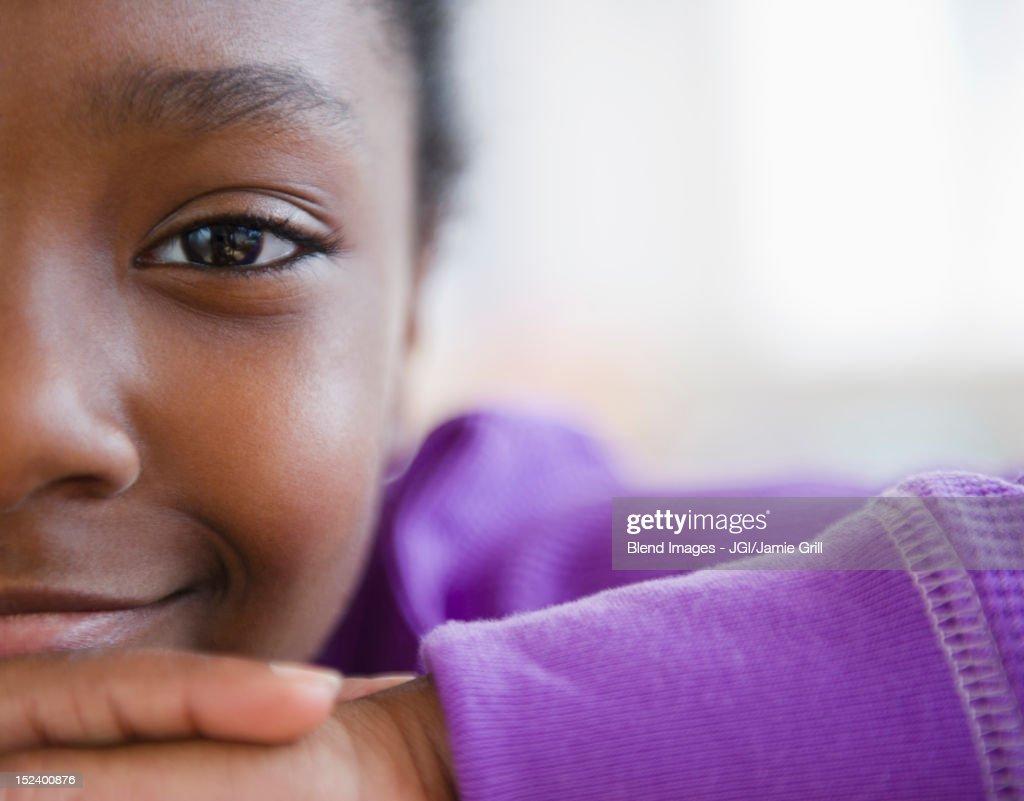 Smiling Black girl : Stock Photo