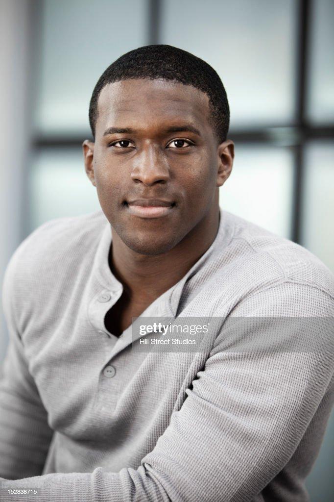 Smiling Black man : Stock Photo