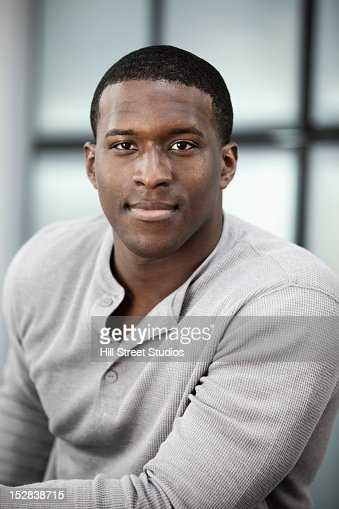 Smiling Black man : Stock Photo