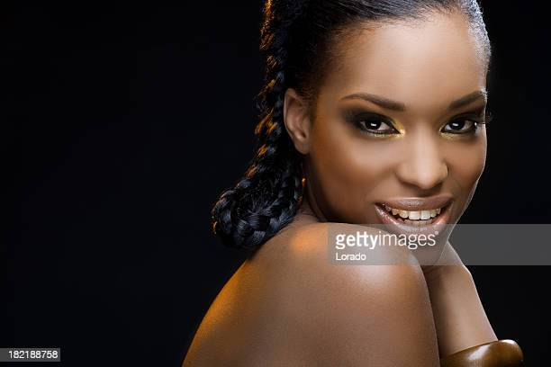 smiling black model