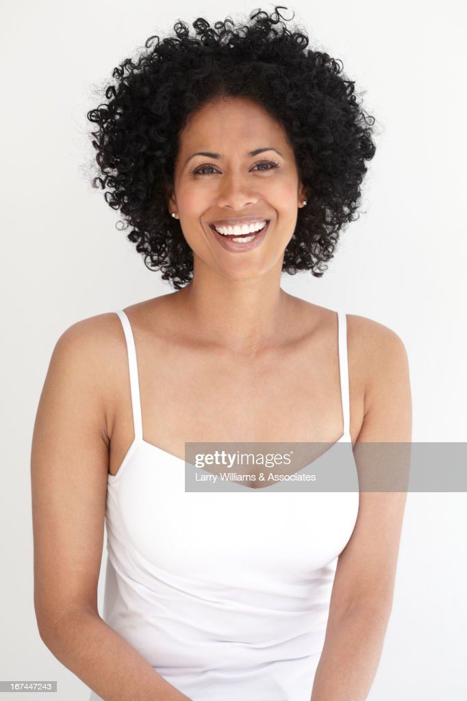 Smiling Black woman : Stock Photo