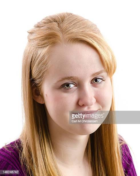 Smiling blonde teenager