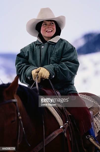 Smiling Boy on Horseback