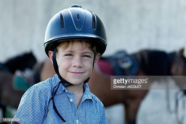 Smiling boy rider