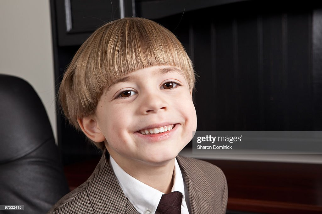 Smiling Business Boy : Stock Photo
