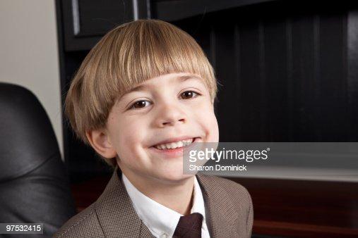 Smiling Business Boy : Stockfoto