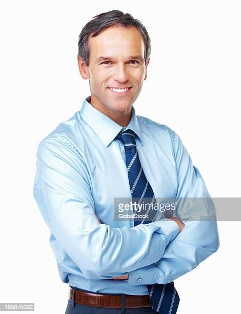 Souriant Homme d'affaires en toute confiance