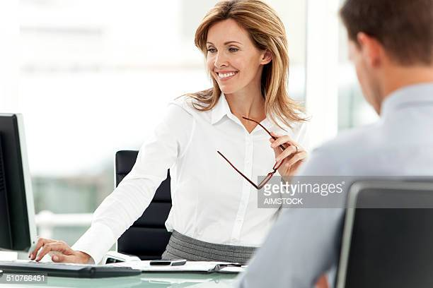 Smiling business manager at workplace