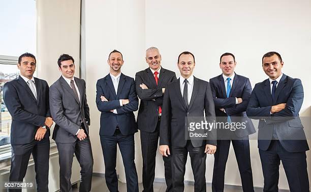 Lächelnd business-team