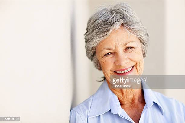 Smiling business woman - copyspace