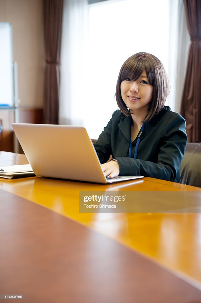 Smiling business woman : Stock Photo