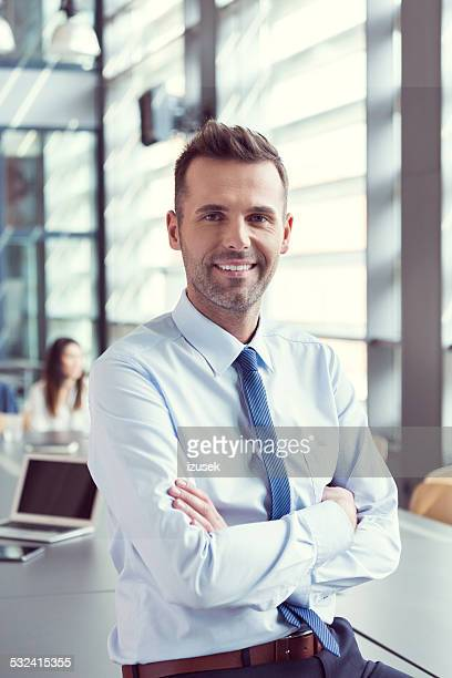 Souriant Homme d'affaires dans le bureau