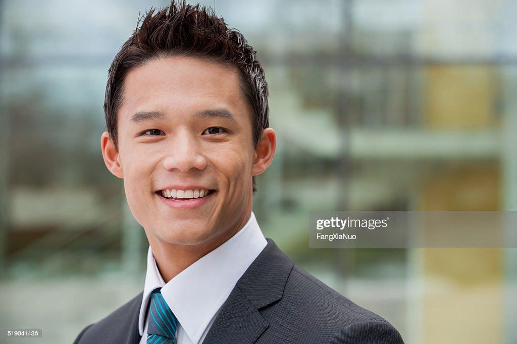 Sorridente Empresário : Foto de stock