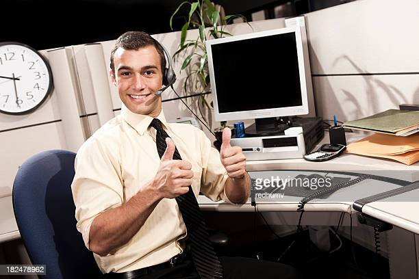 Smiling Businessman Thumbs Up