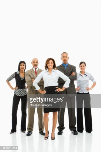 Smiling businesspeople : Foto de stock