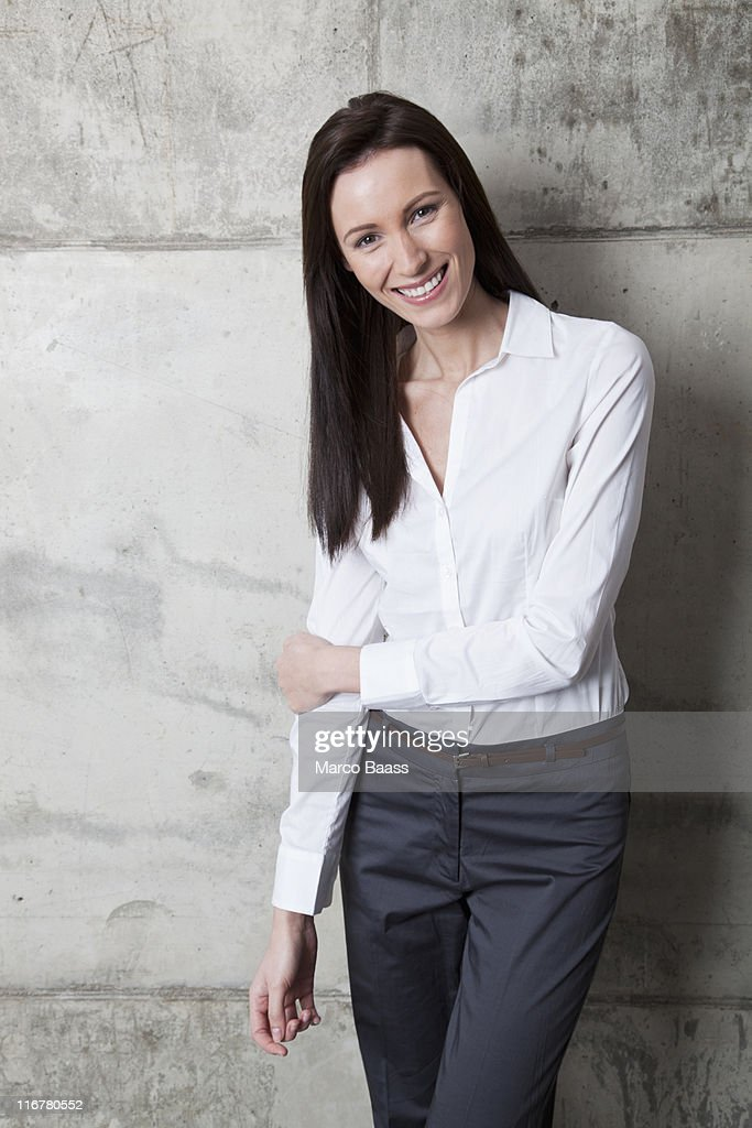 A smiling businesswoman : Stock Photo