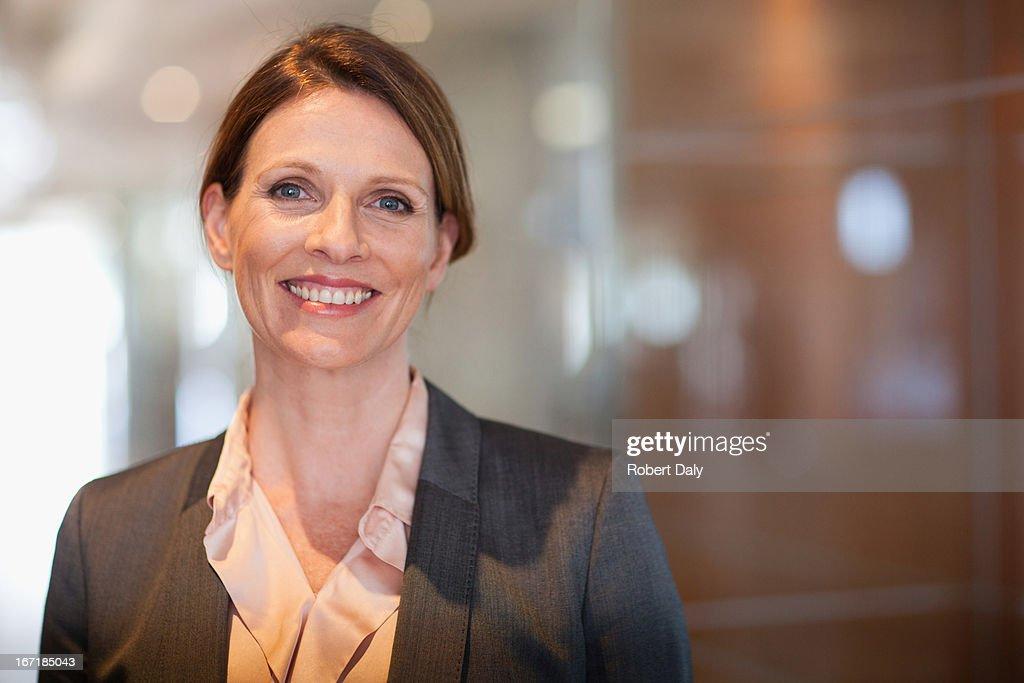 Smiling businesswoman : Stock Photo