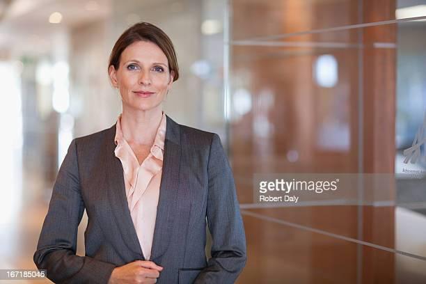 Lächelnd Geschäftsfrau