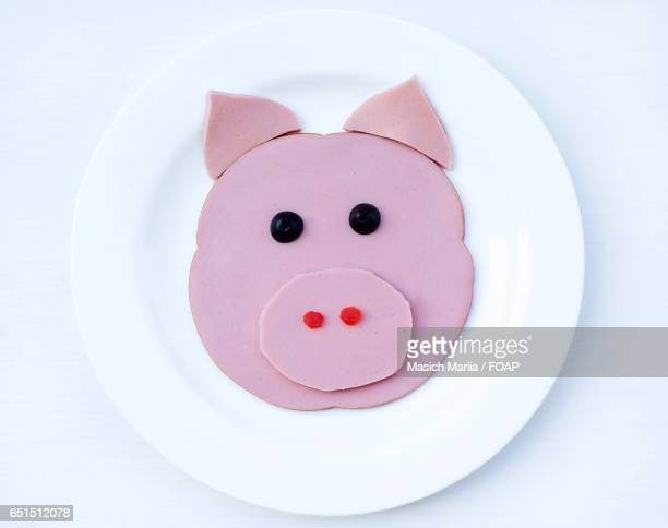 Smiling cake on plate