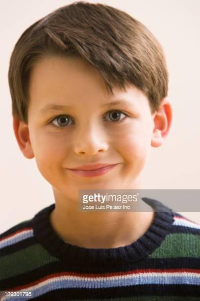 Smiling Caucasian boy